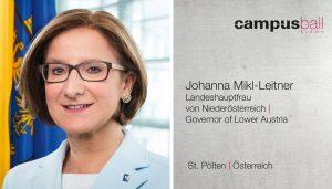 Landeshauptfrau Johanna Mikl-Leitner zum Campus-Ball Krems